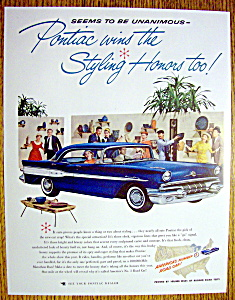 1957 Pontiac with a Great Blue Pontiac (Image1)