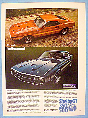 1969 Shelby Gt 350/500 Ad With The Shelby Gt