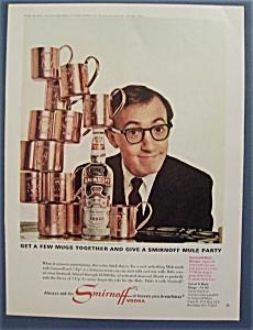 1966  Smirnoff  Vodka  with  Woody  Allen (Image1)