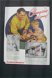 1949 Wheaties Cereal with Tommy Holmes (Image1)