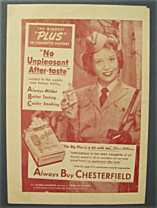 1951  Chesterfield  Cigarettes with Gloria DeHaven (Image1)