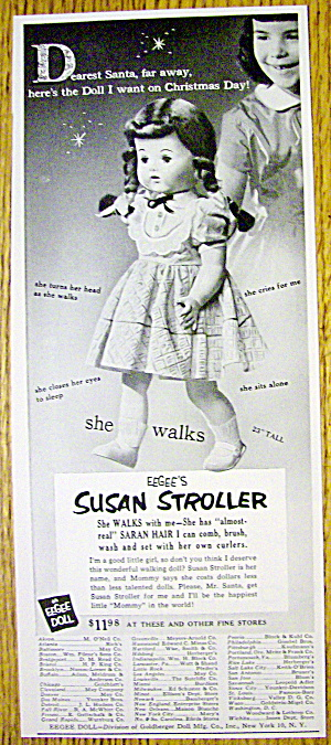 1953 Eegee's Susan Stroller Doll with Doll & Little Gir (Image1)