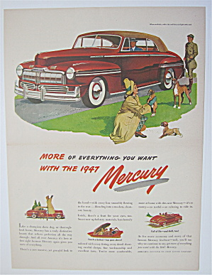 1947 Mercury with Woman Picking Up Puppies  (Image1)