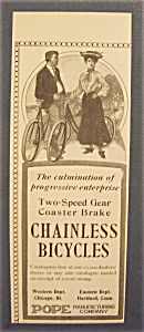 Vintage Ad: 1904 Chainless Bicycle (Image1)