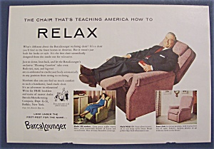 1955 Barcalounger with Man Relaxing In Lounger (Image1)
