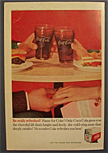 1960 Coca-Cola (Coke) with Two Glasses Tapping (Image1)