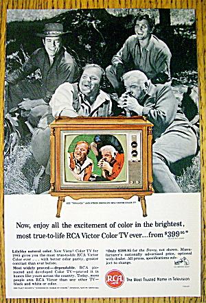 1965 RCA Color Television w/L. Greene & M. Landon (Image1)
