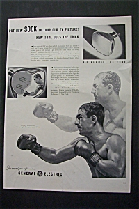 1953 G-e Aluminized Tube With Rocky Marciano