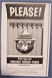 1964 Smokey The Bear with Smokey in a Book Of Matches (Image1)