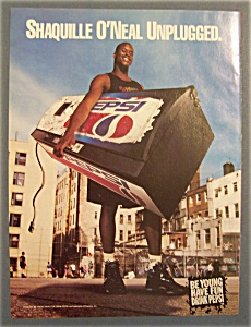 1995 Pepsi Cola Ad With Shaquille O' Neal