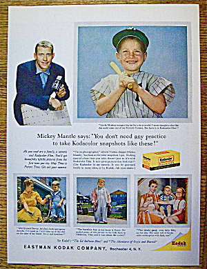 1959 Kodak Company with Baseball's Mickey Mantle (Image1)