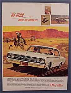 1963 Oldsmobile Ad With The F-85 Cutlass