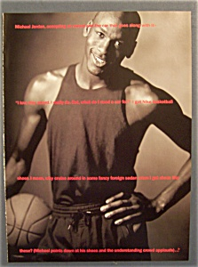 1990 Nike Basketball Shoes Ad with Michael Jordan (Image1)