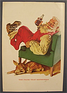 1958 Coca Cola (Coke) With Santa Claus Sitting In Chair