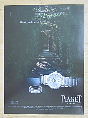 2004 Piaget Watches With Piaget Geneve