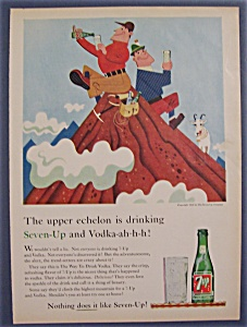 1959 7 Up (Seven Up) With Two Men Sitting On Mountain