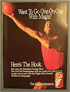 Vintage Ad: 1990 Orange Slice with Magic Johnson (Image1)