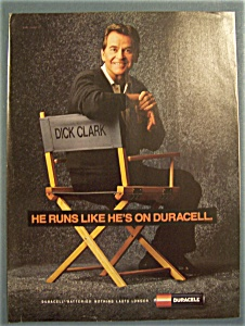 Vintage Ad: 1991 Duracell Batteries with Dick Clark (Image1)