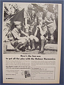1965 Hohner Harmonica Ad with Boy Scouts (Image1)
