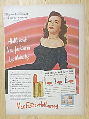 1947 Max Factor Lipstick with Marguerite Chapman (Image1)