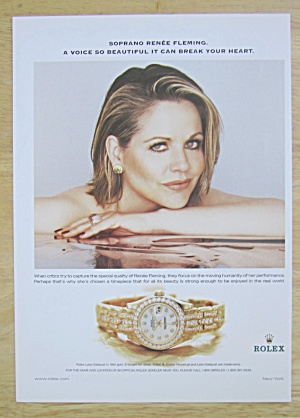 2002 Rolex Watches with Soprano's Renee Fleming  (Image1)