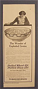 1914 Quaker Oats Cereal with Woman Looking into Bowl (Image1)