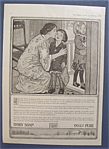 1914 Ivory Soap With Woman Kissing Her Children