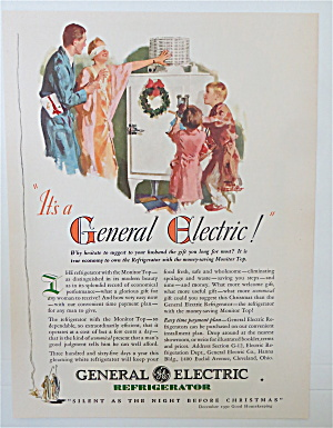 1930 General Electric Refrigerator w/ Woman Blindfolded (Image1)
