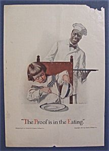 1914 Cream Of Wheat Cereal Ad with Black Chef (Image1)