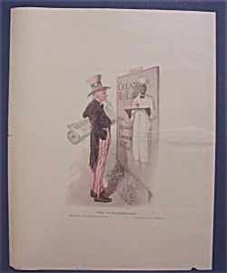 1921 Cream Of Wheat Cereal Ad With Uncle Sam