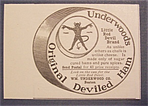 1904 Underwood Deviled Ham with Can of Deviled Ham (Image1)