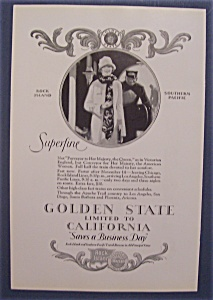 Vintage Ad: 1926 Golden State Limited To California (Image1)