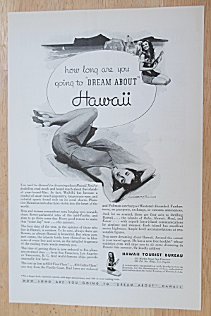 1934 Hawaii with Woman Laying On The Beach  (Image1)