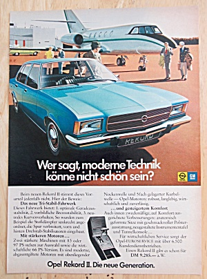 1972 General Motors With Opel Rekord Ii