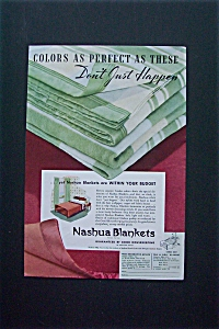 1936 Nashua Blankets With A Pile Of Blankets