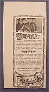 1904 Wheatlet Cereal With A Group Of Graduates