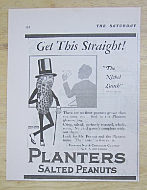 1929 Planters Salted Peanuts with Mr. Peanut  (Image1)