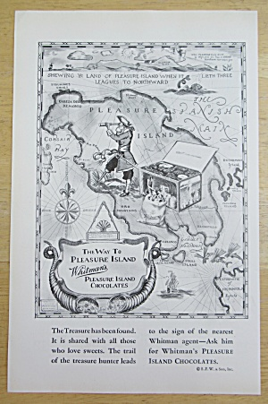 1929 Whitman's Chocolate with Map to Pleasure Island (Image1)