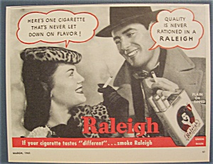 1945 Raleigh Cigarettes