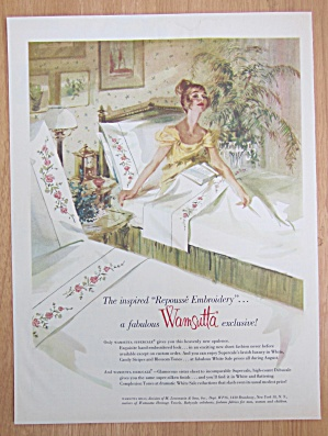 1959 Wamsutta Supercale Mills w/Woman Sitting in Bed (Image1)