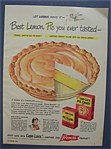 1948 French's Good Luck Pie Crust & Pie Filling