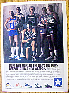 1986 Converse Shoes Ad with Larry Bird & Magic  (Image1)
