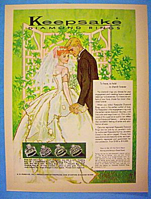 1960 Keepsake Diamond Rings with Lovely Bride & Groom (Image1)