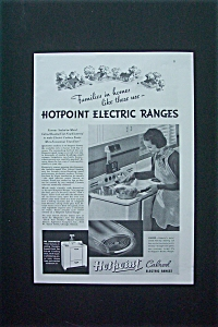 1937 Hotpoint Calrod Electric Ranges with Woman Cooking (Image1)