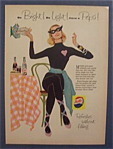 1958 Pepsi-cola (Pepsi) With Woman Dressed In Black