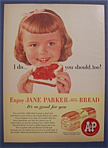 1958 Jane Parker White Bread with Girl Eating Bread (Image1)