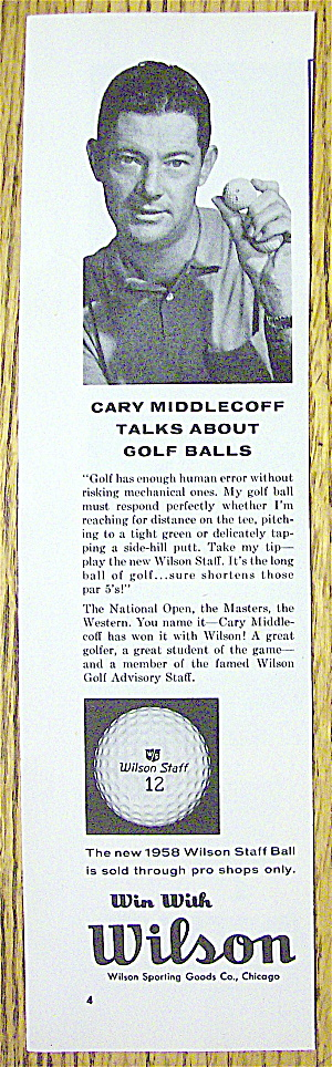 1958 Wilson Golf Balls With Cary Middlecoff