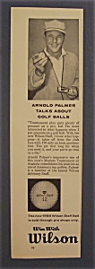 Vintage Ad: 1958 Wilson Golf Balls With Arnold Palmer (Image1)