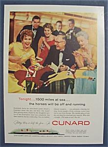Vintage Ad: 1958  Cunard (Image1)
