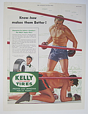 1949 Kelly Tires By Lyman Anderson of Men Boxing  (Image1)